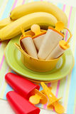 Banana ice creams Stock Images