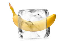Banana in ice crystal Stock Photography