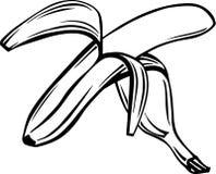 Banana Illustration. Line Art Illustration of a Banana stock illustration