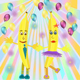 Banana illustration Royalty Free Stock Photos