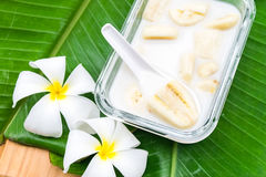 Free Banana In Coconut Milk Stock Photo - 95888560