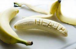 Banana incisa Fotografia Stock
