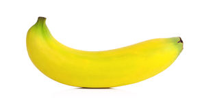 Banana isolata sopra fondo bianco Immagine Stock Libera da Diritti