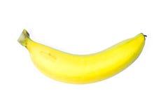 Banana isolata sul percorso bianco di background+Clipping fotografia stock