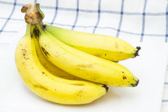 Banana in isolate on white. Stock Photos