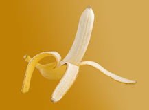 Banana isolated on background. Banana isolated on brown background Royalty Free Stock Photography
