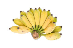 Banana isolated and clipping part Royalty Free Stock Images