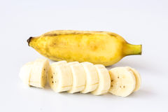 Banana isolated on a gray background Royalty Free Stock Image