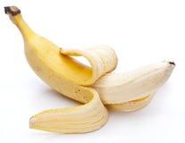 Banana isolated on white stock image