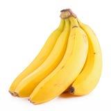 Banana isolated. On white background stock photo