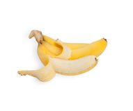 Banana isolated on white Stock Photos