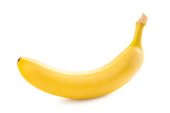 Banana isolated on white background. Banana. Ripe banana isolated on white background Royalty Free Stock Photography