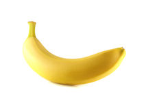 Banana isolated on white background (ripe) Royalty Free Stock Photos