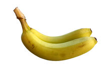 Banana isolated on white. Banana fruits on over white, isolated from background Royalty Free Stock Image