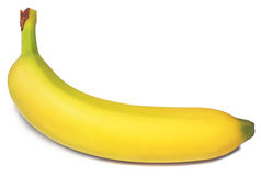 Banana isolates on White Stock Photo