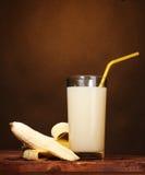 Banana juice with bananas Royalty Free Stock Photos