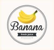 Banana juice. Detailed Vector label. Royalty Free Stock Photos