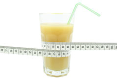 Banana juice and meter Royalty Free Stock Photos
