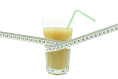 Banana juice and meter Royalty Free Stock Images