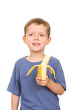 Banana kid Royalty Free Stock Photo