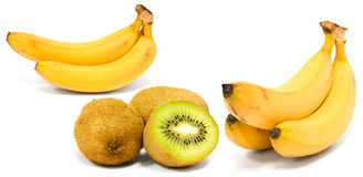 Banana and kiwi Stock Photo