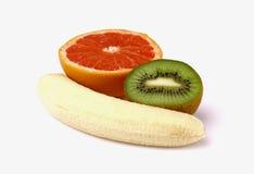 Banana, kiwi e pompelmo Immagini Stock Libere da Diritti
