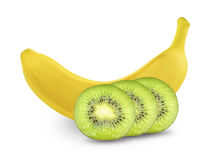 Banana and kiwi Stock Image
