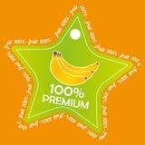 Banana label Royalty Free Stock Image