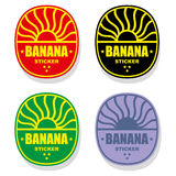 Banana label or stamp Royalty Free Stock Photos