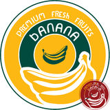 Banana label Royalty Free Stock Photos