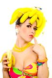 Banana lady Royalty Free Stock Photos