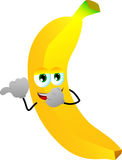 Banana laughing and pointing Royalty Free Stock Photography