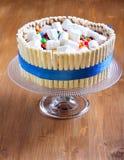 Banana layered cake Stock Images