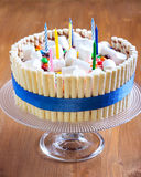 Banana layered cake Stock Photo