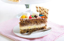 Banana layered cake Royalty Free Stock Images
