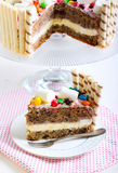 Banana layered cake Stock Photography