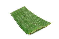 Banana leaf on blank plate for edit food. Or subject on Royalty Free Stock Photography