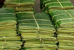 Banana leaf for decorate food in Thai style Royalty Free Stock Images