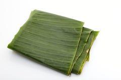 Banana leaf folded Royalty Free Stock Photo