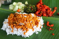 Banana Leaf rice Royalty Free Stock Image