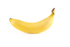 Banana. With leaf on a white background Royalty Free Stock Photos