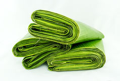 Banana leaves rolls Royalty Free Stock Images