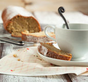 Banana loaf cake Royalty Free Stock Photo