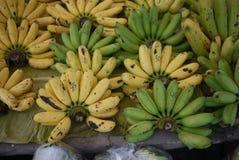 Banana on local shelf Stock Photos