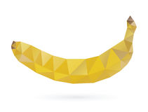 Banana lowpoly design Stock Photography