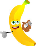 Banana with lyre Royalty Free Stock Photo