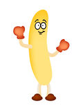 Banana man mascot vector Stock Photography