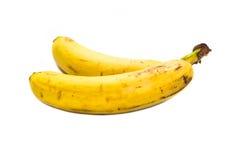 Banana marcia isolata su fondo bianco Immagini Stock Libere da Diritti