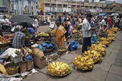 Banana Market Royalty Free Stock Photo