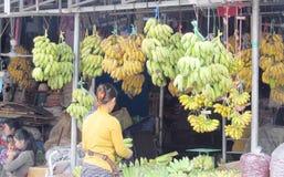 Banana market Stock Images